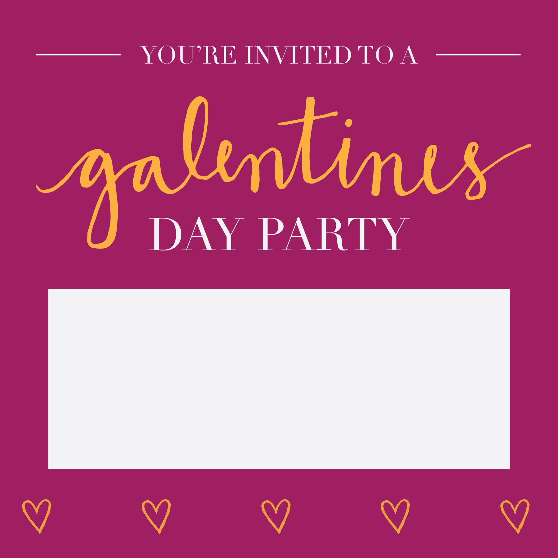 Lux Events Galentines Day Invite Free Download